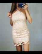 Morelowa sukienka w cekiny M...