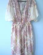 New Look nowa długa sukienka maxi wzory etno