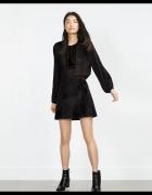 Zara nowa spódniczka imitacja futra czarna mini...
