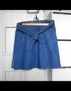Zara nowa jeansowa spódniczka mini wiązana jeans...