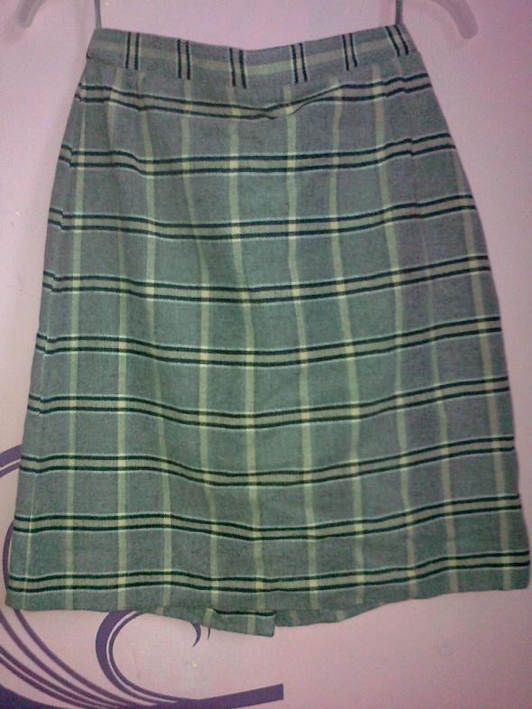 Spódnice spódnica szara w kratkę ołówkowa