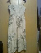 sukienka beż w kwiaty...