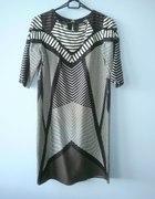 Mango nowa wzorzysta sukienka geometryczna wzory...