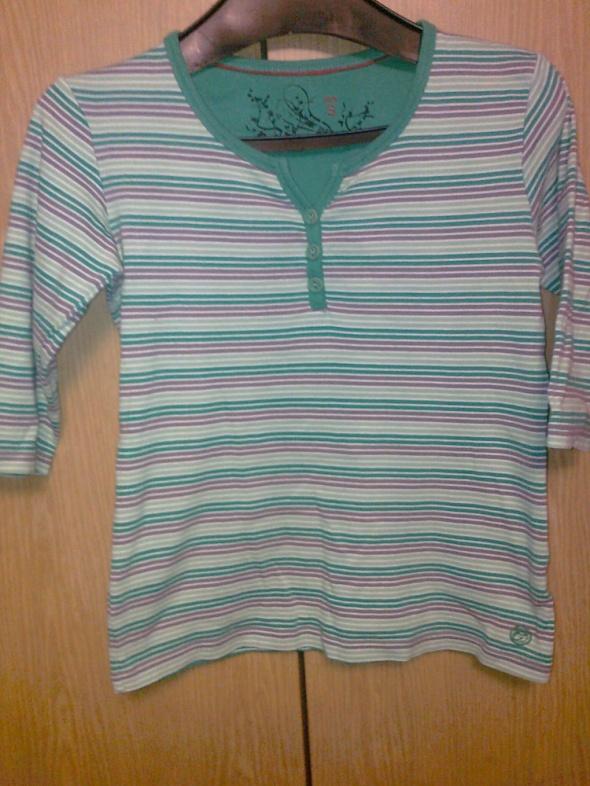 zielona bluzka w paski carry...