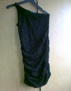 sukienka czarna koronka...