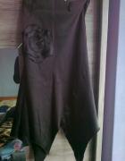 czarna satynowa spódnica gotycka...