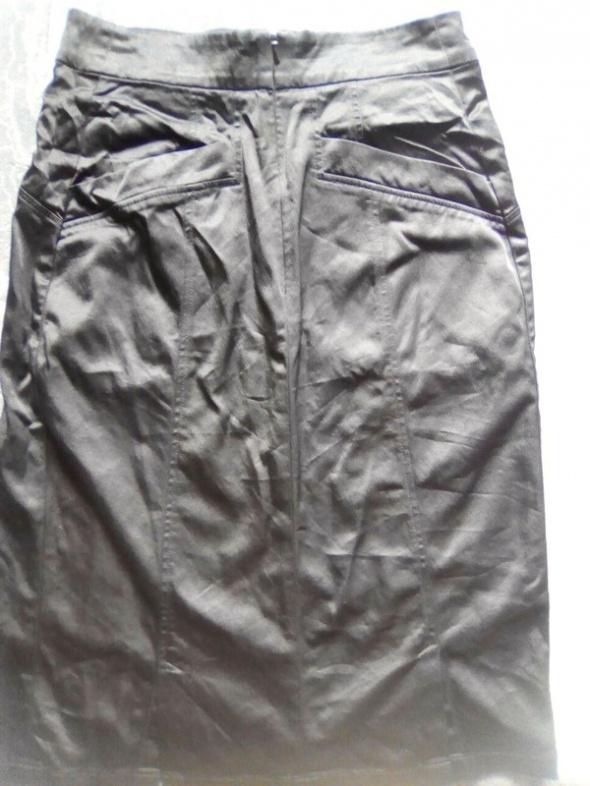 Spódnice spódnica czarna ołówkowa jak satyna goth rock