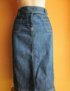 Jeansowa spódnica midi...