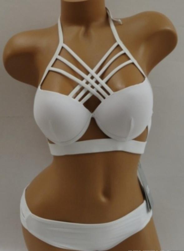 Bikini strój kąpielowy biały S M...