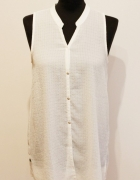 biała bluzka na guziki mango...