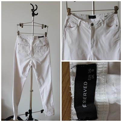 Spodnie Białe rurki nowe reserved