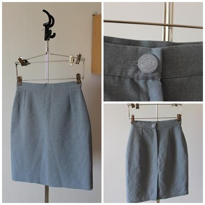 Spódnice Ołówkowa szara spódnica
