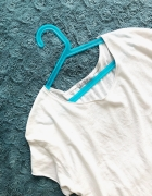 Biały tshirt Zara Trafaluc basic podkoszulek oversize koszulka