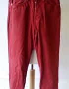 Spodnie Czerwone 27 S 36 H&M Vintage Fit Postrzępione...