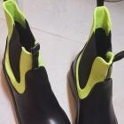Neonowe botki Foreverfolie sztyblety neon