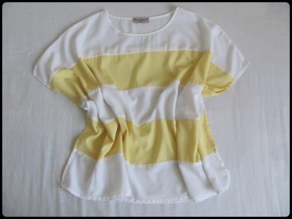 Zwiewna lekka bluzka oversize 42 XL French Collection