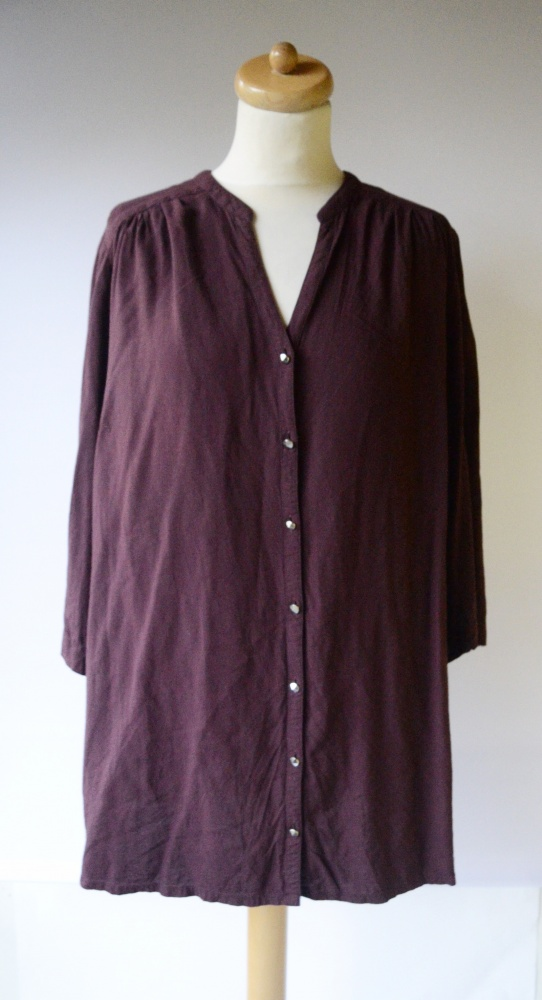Koszula Bordowa KappAhl XLNT 52 54 2XL Elegancka Bluzka...