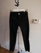 Czarne sponie jeans cekiny...