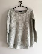 siwy sweter S M L srebrna nitka nude Reserved oversize boho gla...