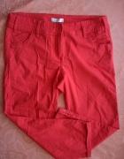 Spodnie inetnsywne malinowe Promod...