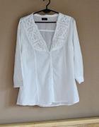 Biała koszula z haftem FF...