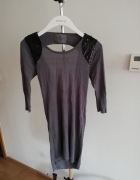 Asymetryczny sweter w cekiny