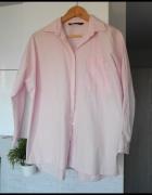Zara różowa pudrowa koszula oversize pink z popeliny boyfriend...