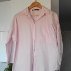 Zara różowa pudrowa koszula oversize pink z popeliny boyfriend