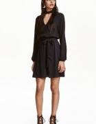nowa czarna sukienka z chokerem HM S