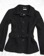 INTOWN czarna kurtka wełna M