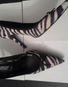 Klasyczne szpilki New look super modny wzór zebry...