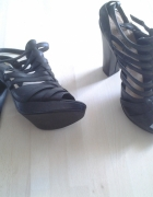Sandałki gladiatorki na słupku jak nowe New Look roz 5 38...