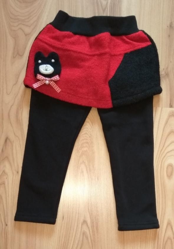 Nowe ocieplane leginsy ze spódniczką spodnie 86 9
