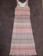 Długa suknia QED LONDON wzory roz M na L