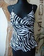 bluzka zebra na ramiączkach