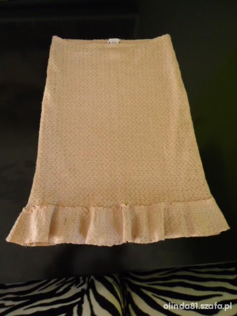 Spódnice MANGO Śliczna pudrowa spódnica roz S