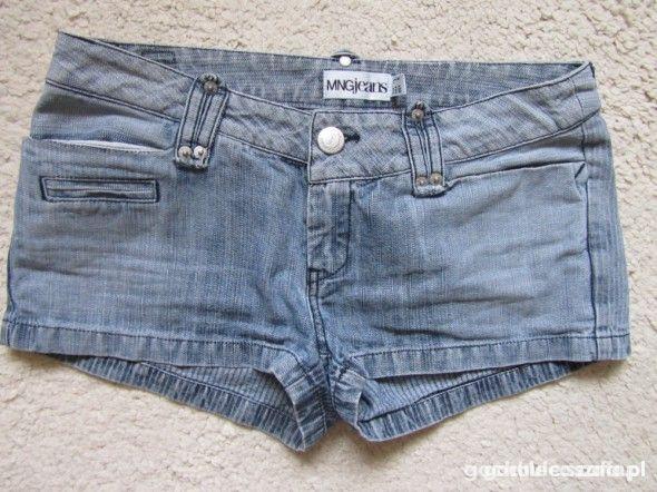 krótkie jeansowe szorty...