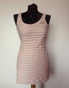 H&M Garden Collection pudrowa pastelowa sukienka...