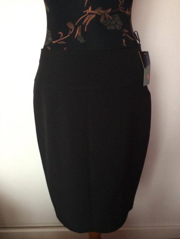 Spódnice nowa czarna ołówkowa spódnica spódniczka rozporek