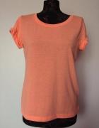 H&M nownowa pomarańczowa koszulka t shirt krótki...