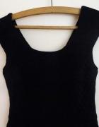 sukienka mała czarna Zara s 36 dekolt plecy suwak...