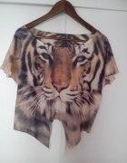 Lew Animal Wild krótka bluzka koszulka top oversiz...
