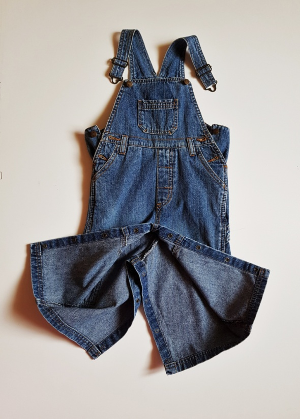 KappAhl jeansy ogrodniczki dziecięce rozpinane r 86