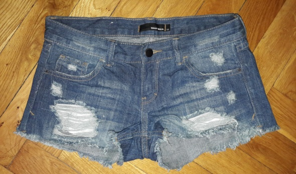 Spodenki jeansowe Tally Weijl XS przetarcia...