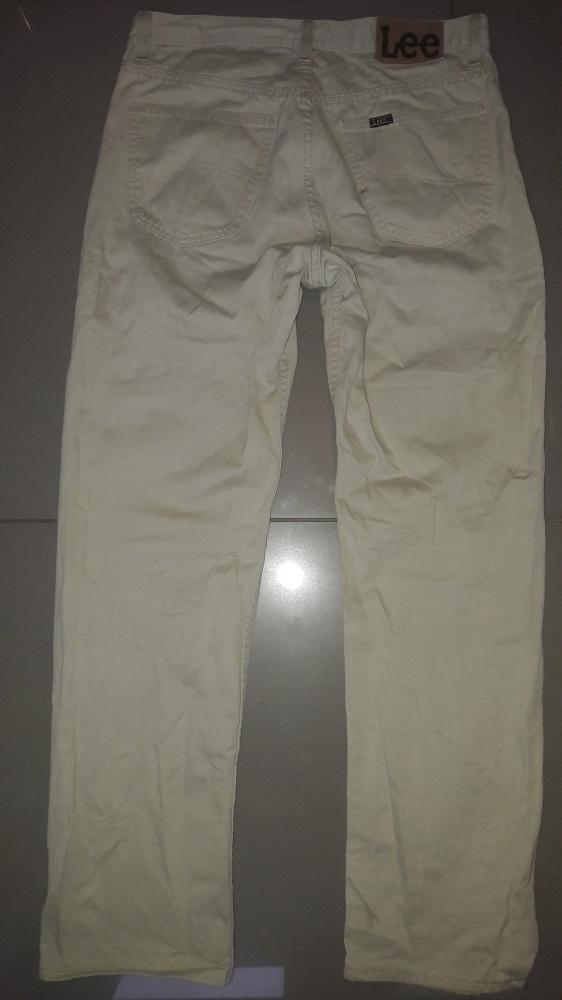 Beżowe Spodnie męskie Lee M