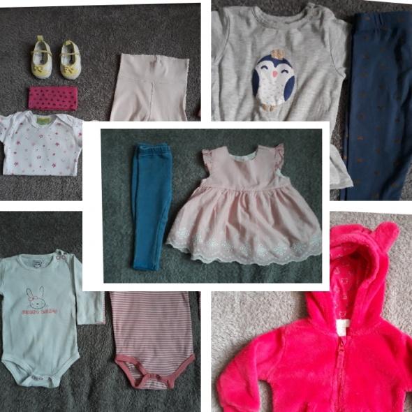 Zestaw ubrań dla dziewczynki 62