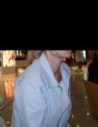 Kurtka jasny jeans na zamek M