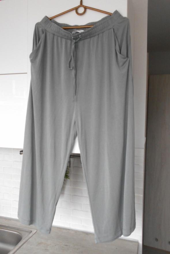 Mango nowe spodnie szare luźne modal minimalizm
