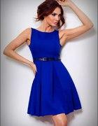 CHABROWA rozkloszowana sukienka PASEK S 36...