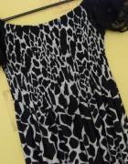 Suknia Sukienka Koronka Czarno Biała S M